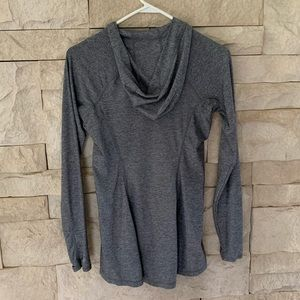 Athleta Tunic running hoodie Grey